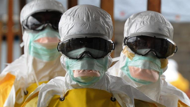 Medecins Sans Frontieres (Doctors without Borders) workers in Monrovia, Liberia during the Ebola crisis in 2014. (Getty Images)