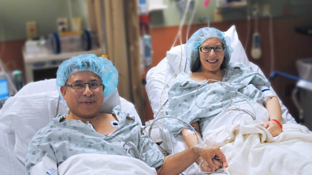 Carlos and Monica Calle (Photo Courtesy of Memorial Regial Hospital)