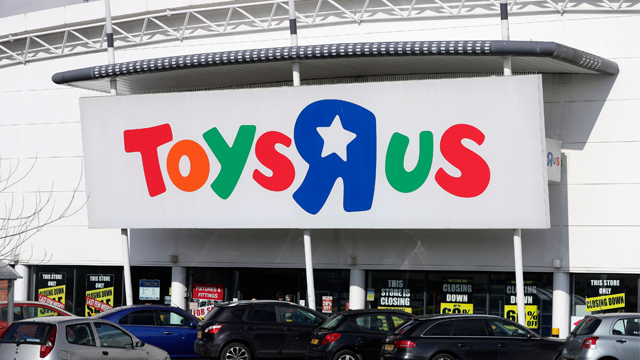 This Feb. 27, 2018 file photo shows a branch of Toys R Us at St Andrews Retail Park in Birmingham, central England. (Aaron Chown/PA via AP, File)