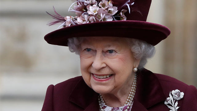 Britain's Queen Elizabeth leaves after attending the Commonwealth Service at Westminster Abbey in London, Monday, March 12, 2018. (AP Photo/Kirsty Wigglesworth, pool)