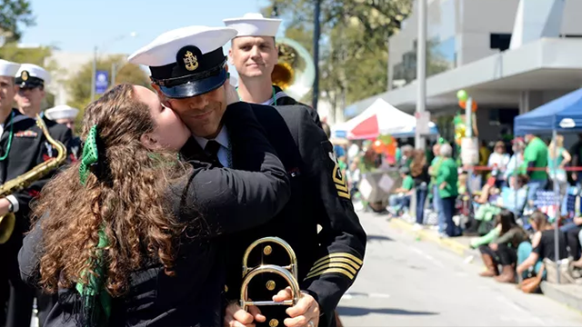 Spectators might have to kiss a decades-old tradition goodbye in Savannah's St. Patrick's Day parade. (Mass Communication Specialist 1st Class Stacy D. Laseter/US Navy)
