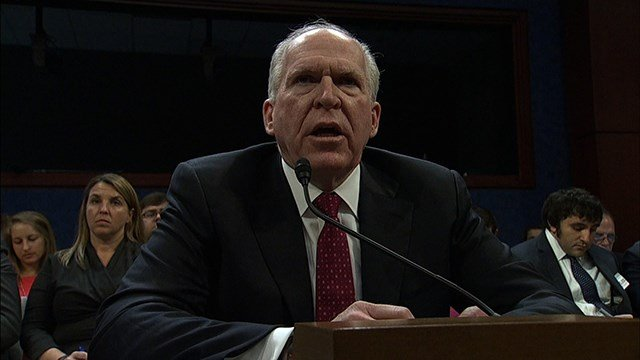 """Former CIA Director John Brennan responded Saturday, March 17, 2018 to President Donald Trump's tweet about the firing of former FBI deputy director Andrew McCabe, calling the President """"a disgraced demagogue."""" (CNN)"""