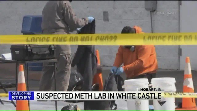 Police found a one-pot methamphetamine lab inside a White Castle restaurant Friday in northwest Indiana.(CNN)