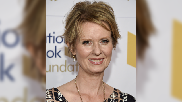 Cynthia Nixon attends the 68th National Book Awards Ceremony and Benefit Dinner at Cipriani Wall Street on Wednesday, Nov. 15, 2017, in New York. (Photo by Evan Agostini/Invision/AP)