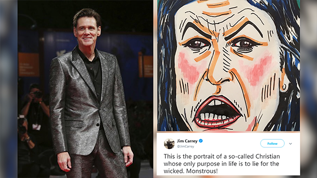 Jim Carrey's latest controversial painting goes after Mark Zuckerberg