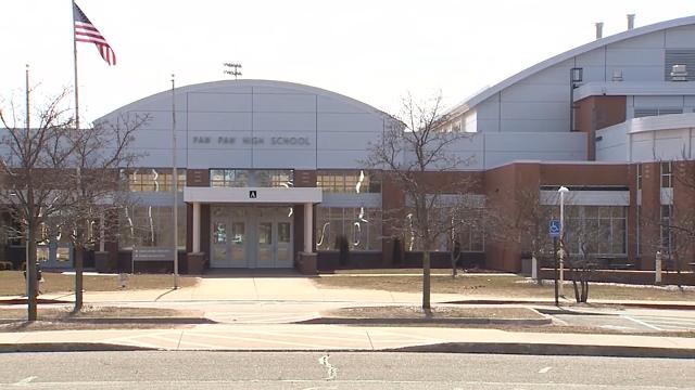 Paw Paw High School (WOOD via CNN)