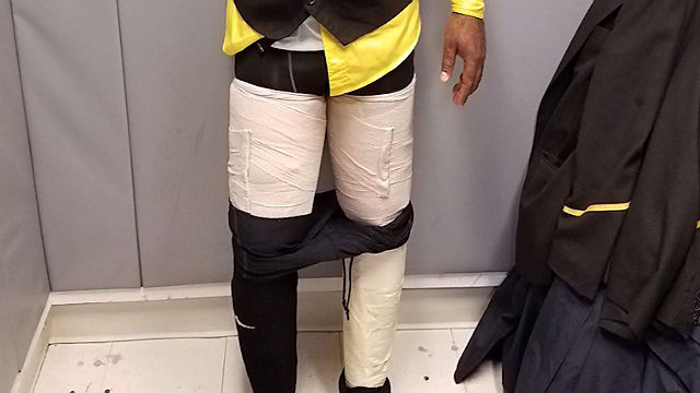 A crew member of Fly Jamaica Airways was arrested for attempting to smuggle 9 pounds of cocaine into the United States. (U.S. Customs and Border Protection)