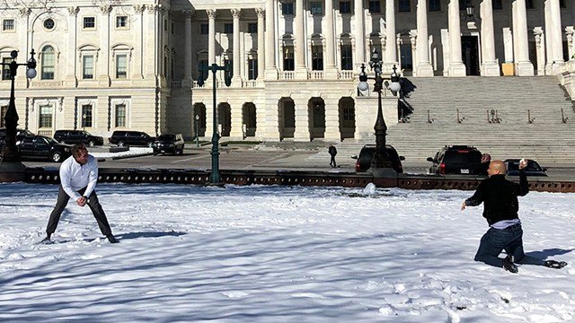 Snowball Duel on Capitol Hill Pits Booker Against Flake