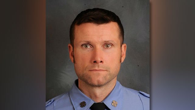 This undated photo provided by the New York City Fire Department shows Michael Davidson, 37, who was killed battling a blaze on the set of movie being shot in Harlem. (FDNY)