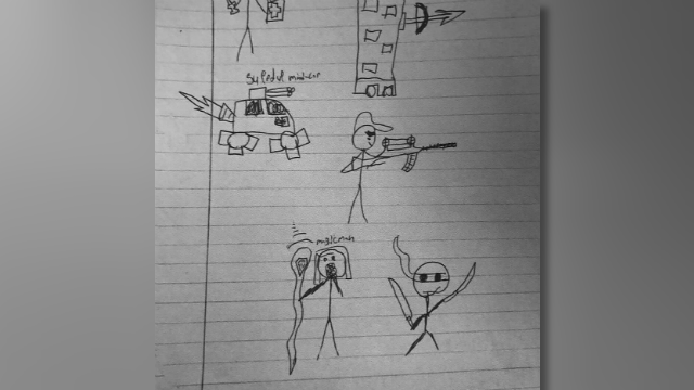 13-Year-Old Suspended for Drawing of Stick Figure Holding Gun