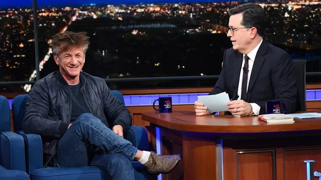 Award-winning actor Sean Penn appears Monday on