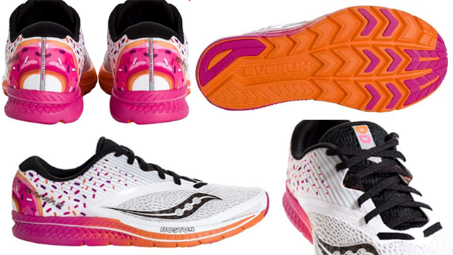 Just In Time For The Boston Marathon: A Dunkin' Donuts Running Shoe