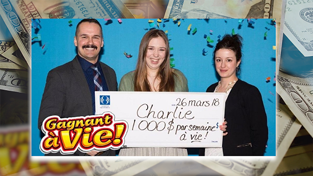 Canada teen wins $1000 a week for life on 18th birthday