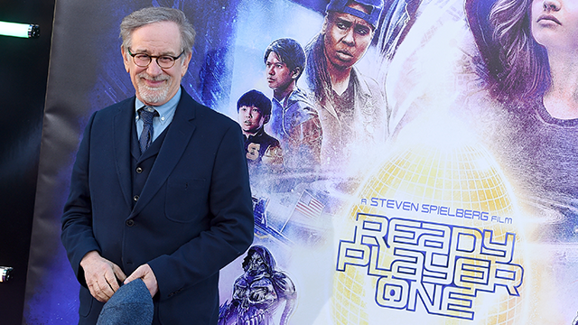 "Steven Spielberg arrives at the world premiere of ""Ready Player One"" at the Dolby Theatre on Monday, March 26, 2018, in Los Angeles. (Photo by Jordan Strauss/Invision/AP)"