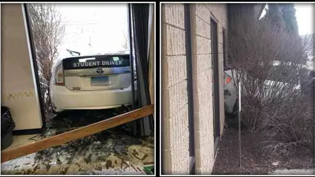 Person Taking Driving Test Crashes Into Connecticut DMV
