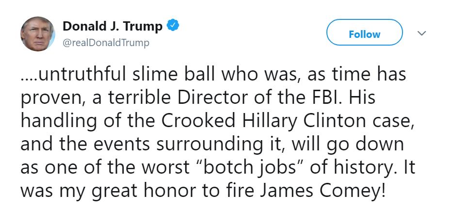 (@realDonaldTrump, Twitter)