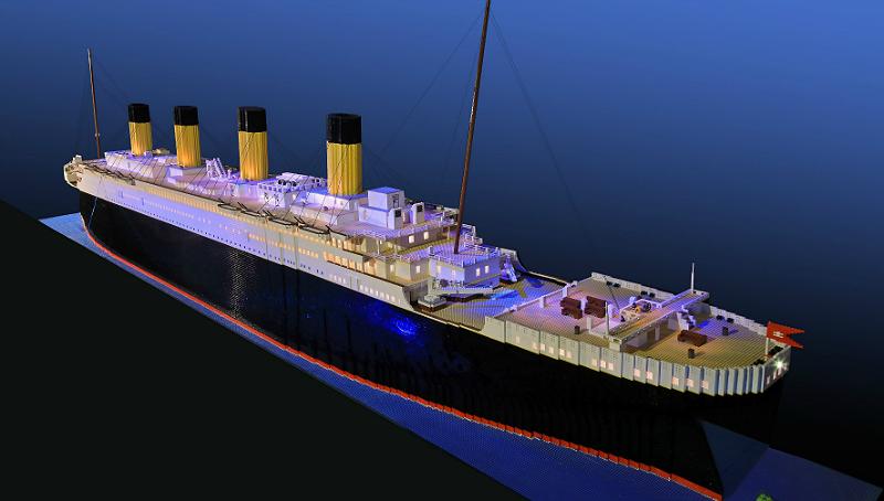 Brynjar Karl Bigisson, now 15, built the world's largest Lego Titanic replica with 56,000 Lego bricks. (Credit: Titanic Pigeon Forge)