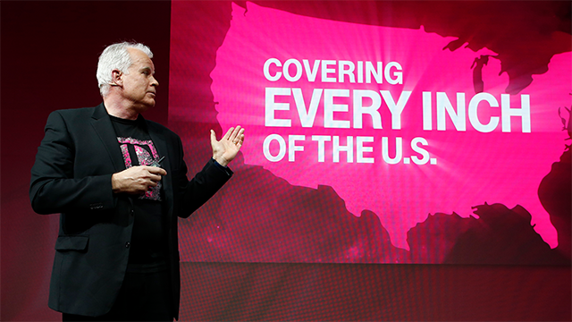 (Manu Fernandez/AP Images for T-Mobile) Chief Technology Officer Neville Ray details T-Mobile's plans to build out 5G in 30 U.S. cities this year at Mobile World Congress in Barcelona, Spain on Tuesday, Feb. 27, 2018.