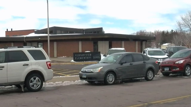 This image shows Pleasant View Elementary School in Sauk Rapids, Minn., where police said an 8-year-old boy randomly slashed three students on Monday, April 17, 2018. (Source: WCCO via CNN)