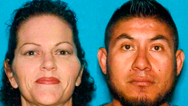 These undated photos provided by the Hanford, Calif., Police Department show Stacie Mendoza and her husband Jose Mendoza. (Hanford Police Department via AP)
