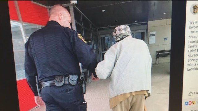 Police officer helps 84-year-old man get to hospital to see wife