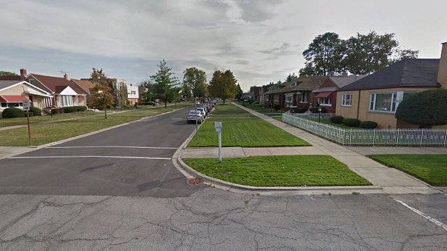 This image shows the 8600 block of South Calumet Avenue, where Chicago police say an unidentified woman's body was found in a shopping cart. (Google Earth)