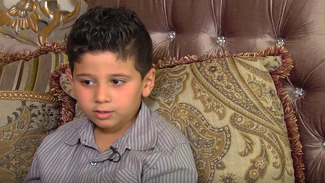 Abdul Dannaoui, 5, says two teachers at his elementary school left him hungry and barely breathing. (Source: WXYZ via CNN)