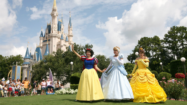 Snow White, Cinderella and Belle help make dreams come true for princesses of all ages at the Magic Kingdom theme park in Lake Buena Vista, Fla. (Walt Disney World via CNN)