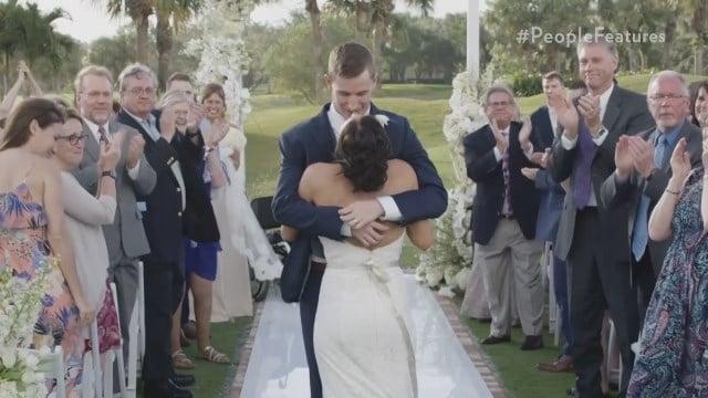 Paralyzed groom walks down the aisle