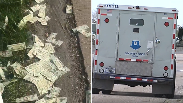 Money flies out of Brinks truck onto IN highway, causing 'chaotic' scene