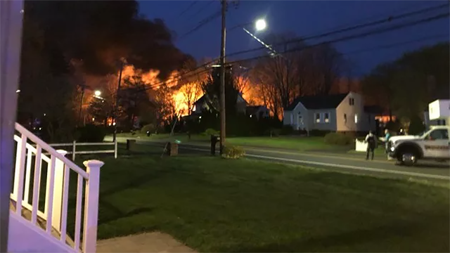 An explosion in a barn in North Haven injured 6 officers(WFSB)