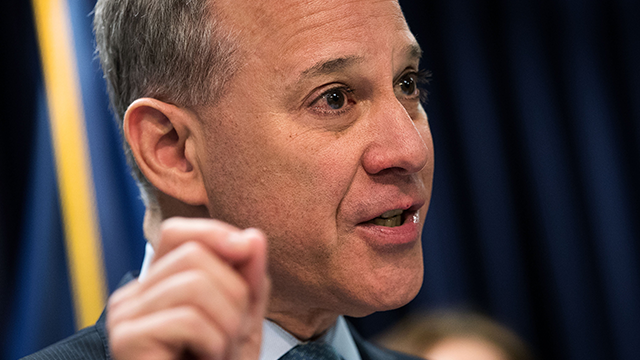 (Drew Angerer/Getty Images) Four women have accused New York Attorney General Eric Schneiderman of physical violence against them, according to a report in the New Yorker magazine.