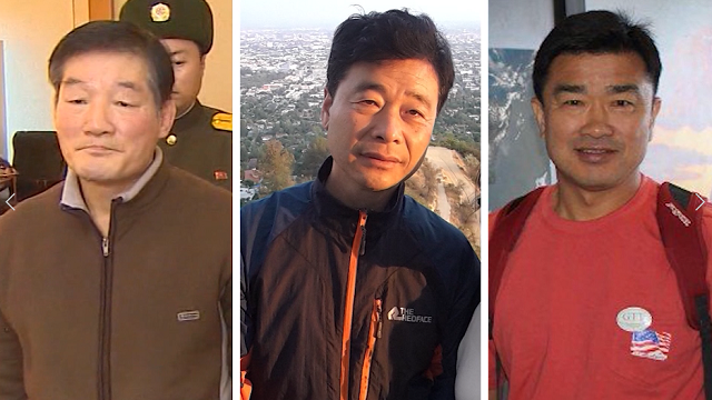 Three American citizens held for months in North Korea have been released, US President Donald Trump announced Wednesday. (Family Photos/CNN)