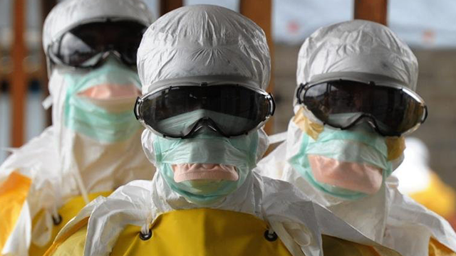 Medecins Sans Frontieres (Doctors without Borders) workers in Monrovia, Liberia during the Ebola crisis in 2014. ( Dominique Faget/AFP/Getty Images)