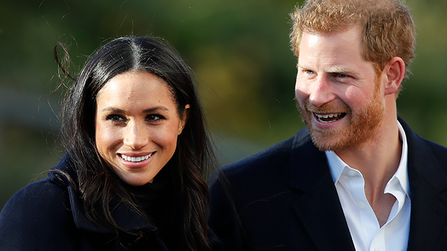 In this Dec. 1, 2017 file photo, Britain's Prince Harry and his fiancee Meghan Markle arrive at Nottingham Academy in Nottingham, England. (AP Photo/Frank Augstein, File)