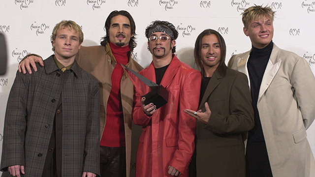From left to right: Brian Littrell, Kevin Richardson,  A.J. McLean, Howie Dorough and Nick Carter  (AP Photo/Mark J.Terrill)
