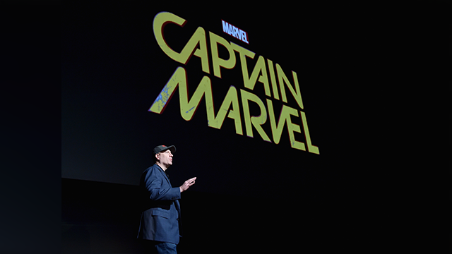 President of Marvel Studios Kevin Feige onstage during Marvel Studios fan event at The El Capitan Theatre on October 28, 2014 in Los Angeles, California. (Photo by Alberto E. Rodriguez/Getty Images for Disney)