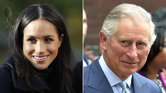 This combo photo shows Meghan Markle and Prince Charles. (AP Photo)