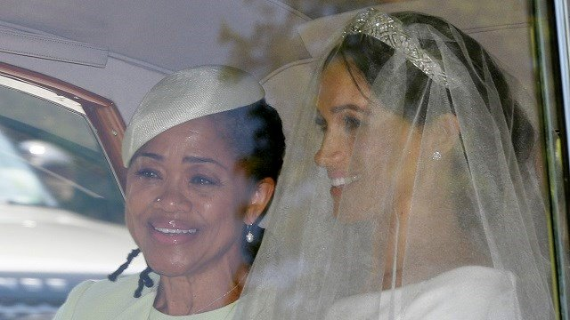 Meghan Markle and her mother Doria Ragland leave Cliveden House Hotel in Taplow, near London, England, May 19, 2018 where she stayed before Markle's wedding ceremony with Prince Harry at St. George's Chapel in Windsor Castle. (AP Photo/Tim Ireland)