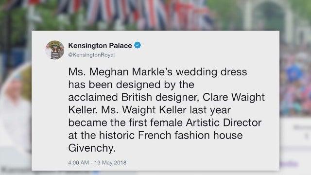 Meghan Markle's dress sparks praise on social media