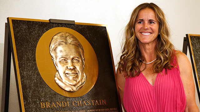Brandi Chastain's hall of fame plaque is really bad