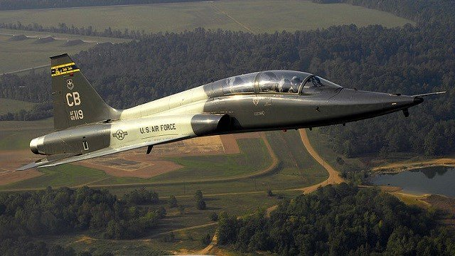 This September 7, 2006 file photo shows a U.S. Air Force T-38C Talon aircraft performing a routine flying mission near Columbus Air Force Base, Mississippi. (U.S. Air Force photo by Staff Sgt. Matthew Hannen, USAF)