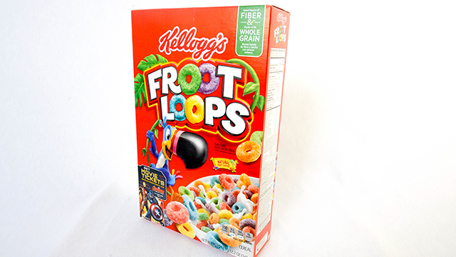 Cereal froot loops Kellogg's. (Newscast/UIG via Getty Images)