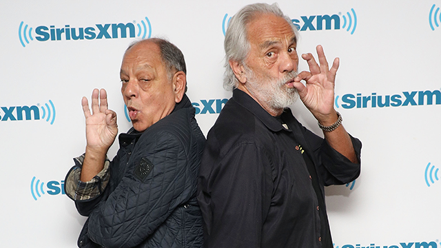 Cheech & Chong visit the SiriusXM Studios on April 23, 2018 in New York City. (Photo by Taylor Hill/Getty Images)