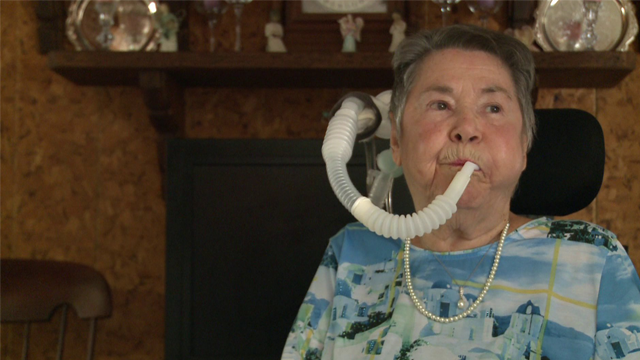 Dorothy Hill's had quite a life, and now she spends her days pushing for better care of people who depend on ventilators. (KDAF via CNN)
