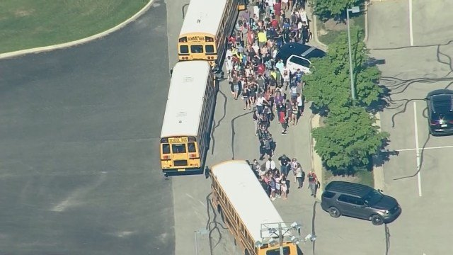 AERIALS: Students evacuate after Indiana school shooting