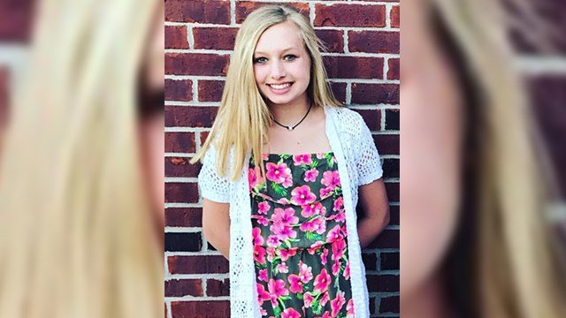 This undated photo provided by the Whistler family shows Ella Whistler, who was shot in a classroom May 25, 2018 at Noblesville West Middle School in Noblesville, Ind., near Indianapolis. (Whistler family)