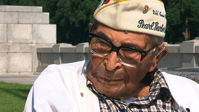 Ray Chavez is the oldest survivor of the attack on Pearl Harbor that launched America's entry into World War II in 1941. (CNN)