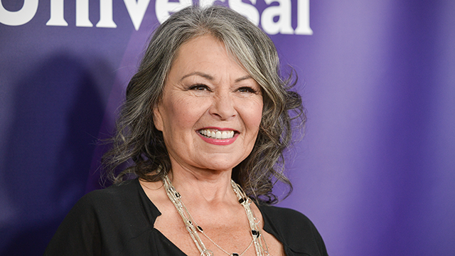 Roseanne Barr arrives at the NBC Universal Summer Press Day on Tuesday, April 8, 2014, in Pasadena, Calif. (Photo by Richard Shotwell/Invision/AP)