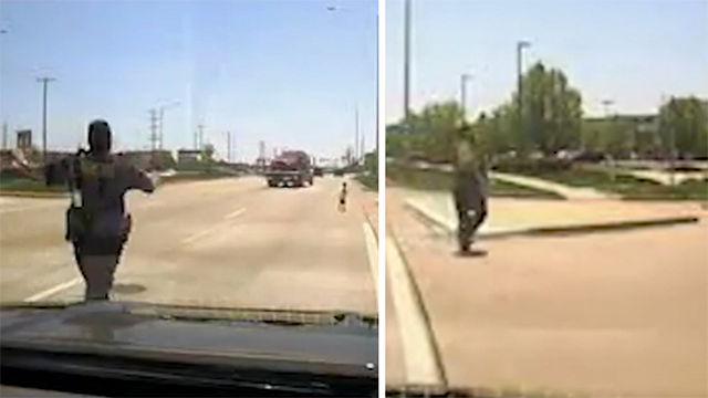 (AP) A police officer has been honored for his quick action rescuing a toddler running alone down a busy road in Illinois. Dash cam video shows Naperville sergeant Anthony Mannino scooping up the boy as cars and trucks whiz by.